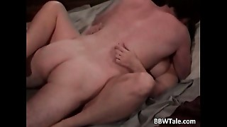 Overweight lady with charming marangos banging