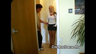 British blond mother I'd like to fuck is pounded hard