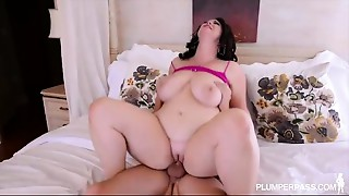 Corpulent Large Tit Mother I'd like to fuck Acquires Screwed in the A-hole by College Fellow