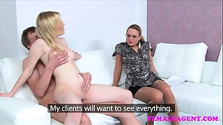 FemaleAgent Dramatic auditions as cheating boyfriend can not resist MILFs advances