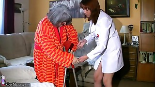 BBW plump Nurse masturbate with mature Grandmother