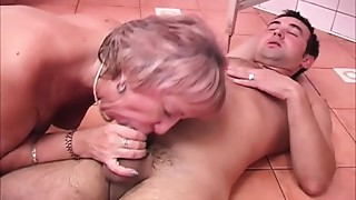 Cum Swallowing Grandmother Baths Drilled