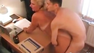 Obese Grandma Fucking In Her Office