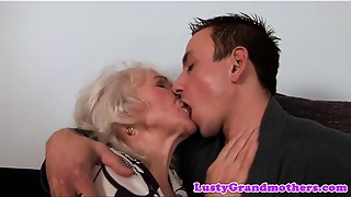 Euro old bitch receives cookie screwed and jizzed on