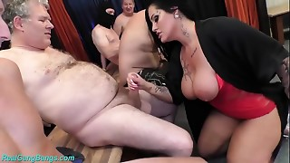 group sex party with bigtitted MILF Ashley Cum Star