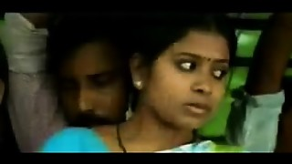 Romance in bus aunty seducing unknown very sexy