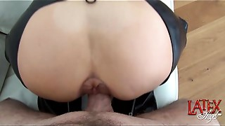 Female anal dance pumping and assfucking by LatexAngel