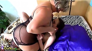 OldNanny Watch mature old slut rolling in lesbo compilation