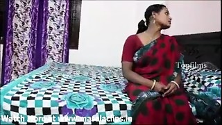 Large mambos indian aunty in red saree drilled by neighbor boy..and  record her