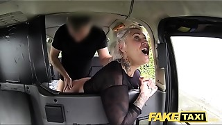 Fake Taxi blond mother I'd like to fuck receives surprise anal sex and rims the driver
