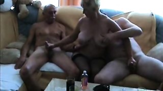 Grandmother MILF fuckfest copulation Grandmother gang gangbang
