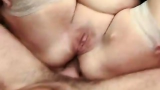 Old french BBW assfucking youthful man