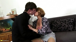 Hot breasty mamma engulf and shag not her son